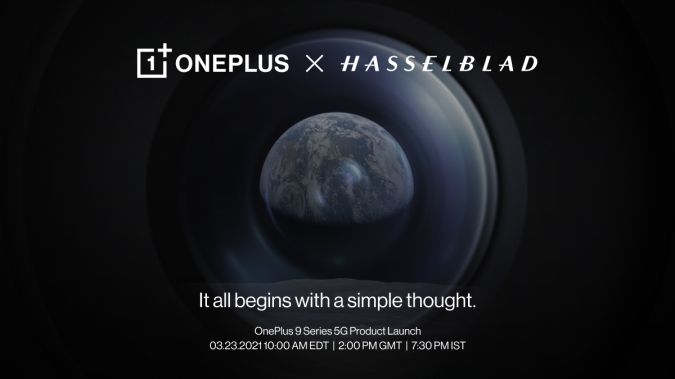 ONEPLUS 9 SERIES WITH HASSELBLAD CAMERA TO RELEASE MARCH 23
