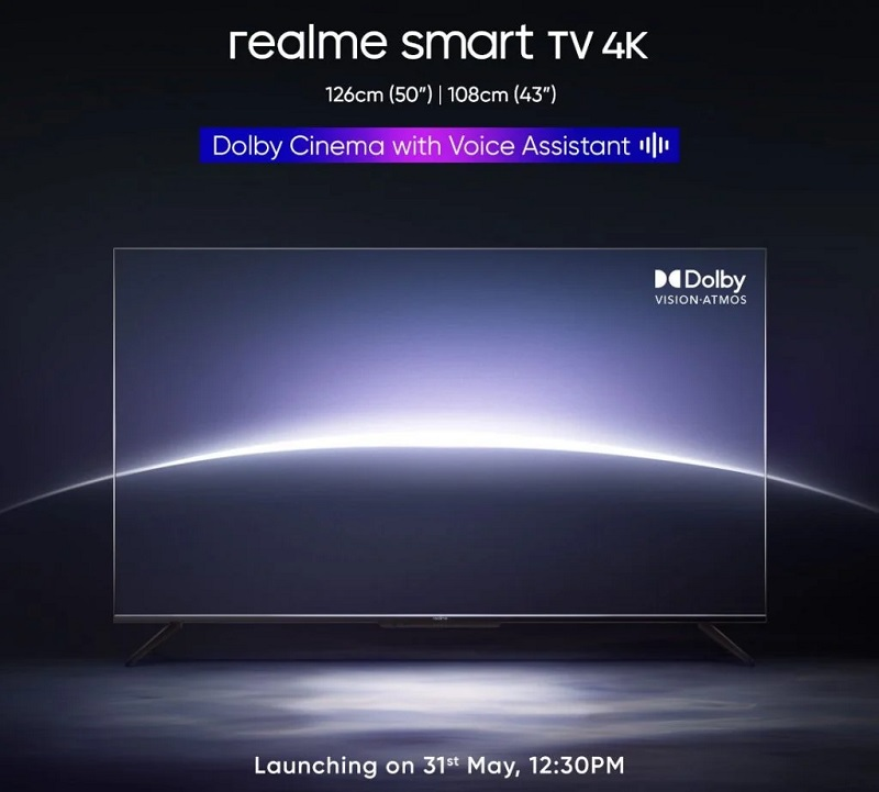 NEW SMART TV REALME WILL BE RELEASED ON MAY 31