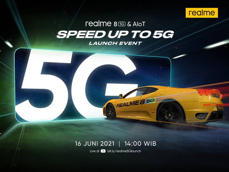 REALME 8 5G WILL RELEASE IN INDONESIA ON JUNE 16