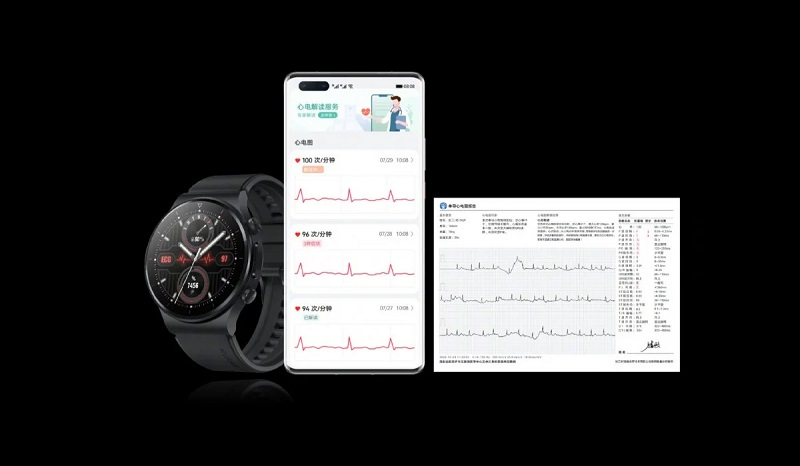 Huawei Watch GT 2 Pro ECG with the electrocardiogram feature