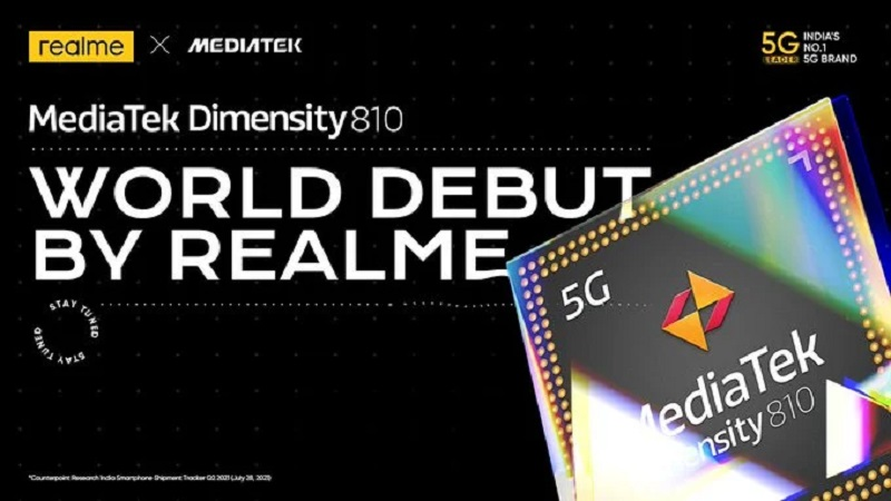 Realme will release the world's first Dimensity 810 smartphone